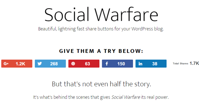 social warfare wordpress plugins