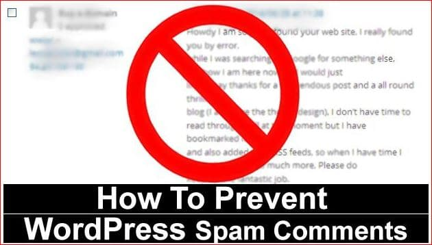 prevent from spam comments