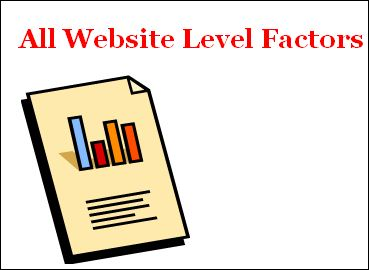 All website level factors