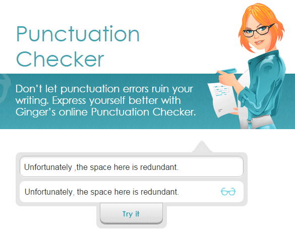 Ginger-Punctuation-Checker