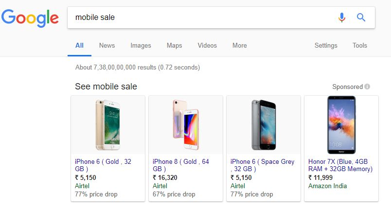 mobile sale google trick